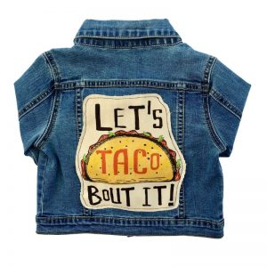 Recess Ready denim jacket Let's Taco Bout It!
