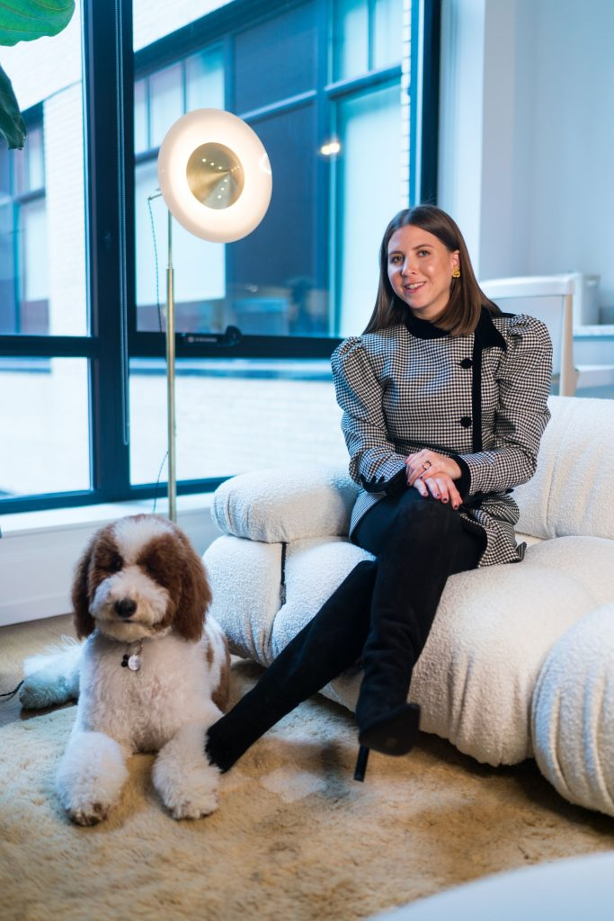 Founder Ashley Orfus with her Dog