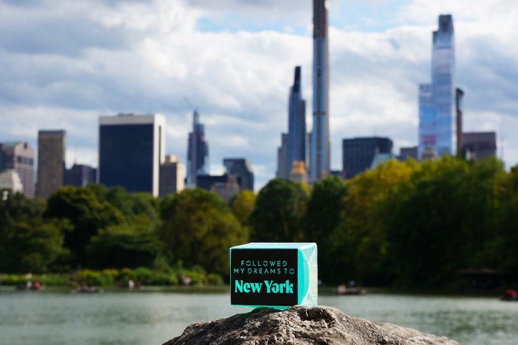New York neon bars soap in Central Park