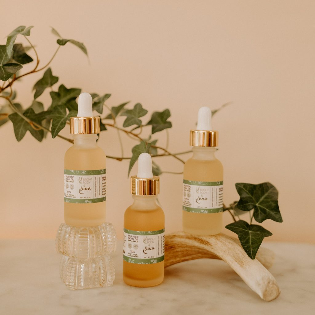 Ayurvedic facial oils from Bright Body