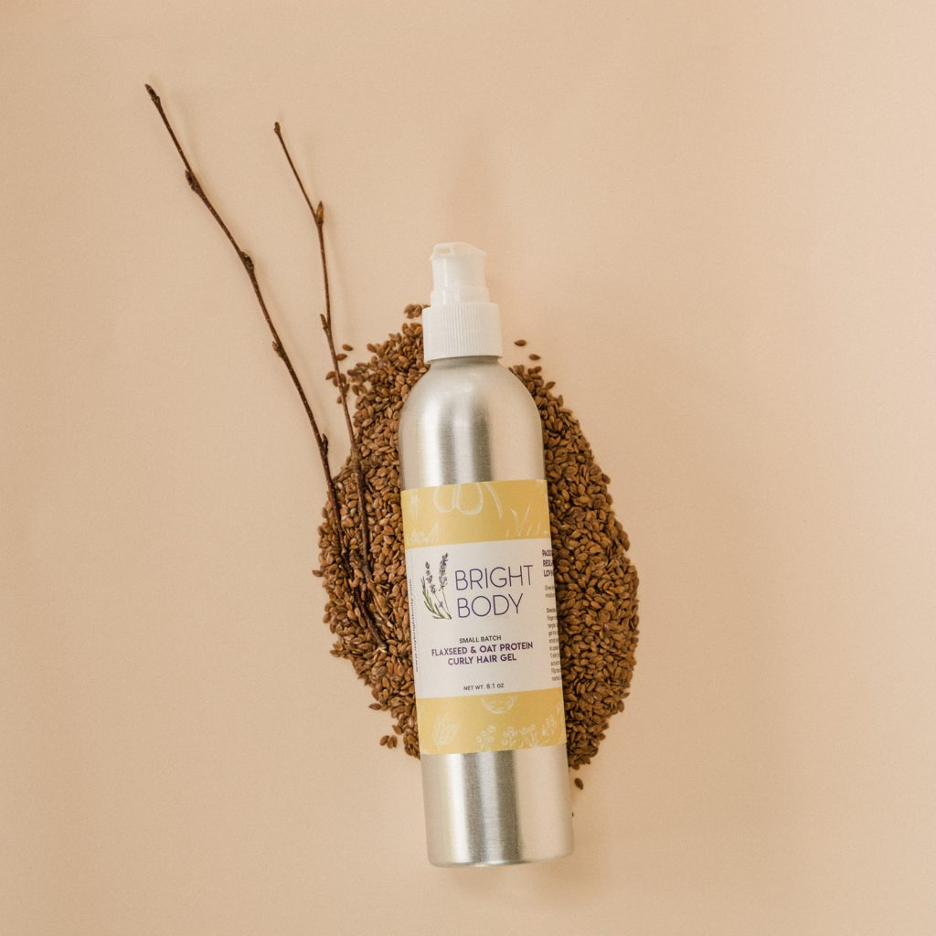 Bright Body Flaxseed and Oat Protein Curly Hair Gel