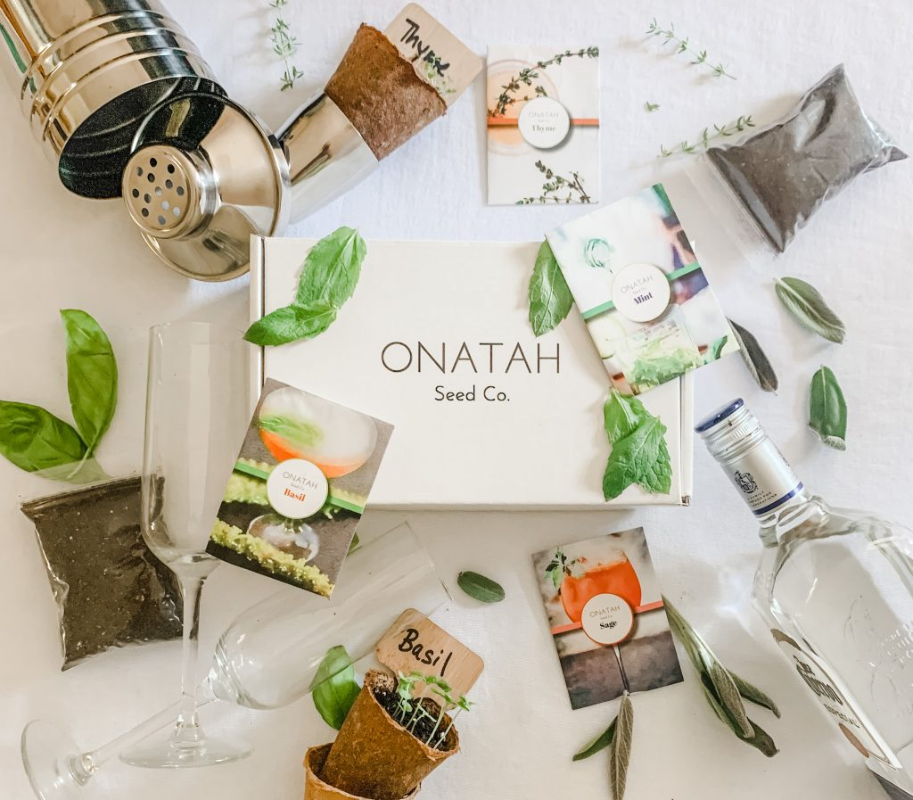 Onatah Seed Co. Cocktail Box with herbs