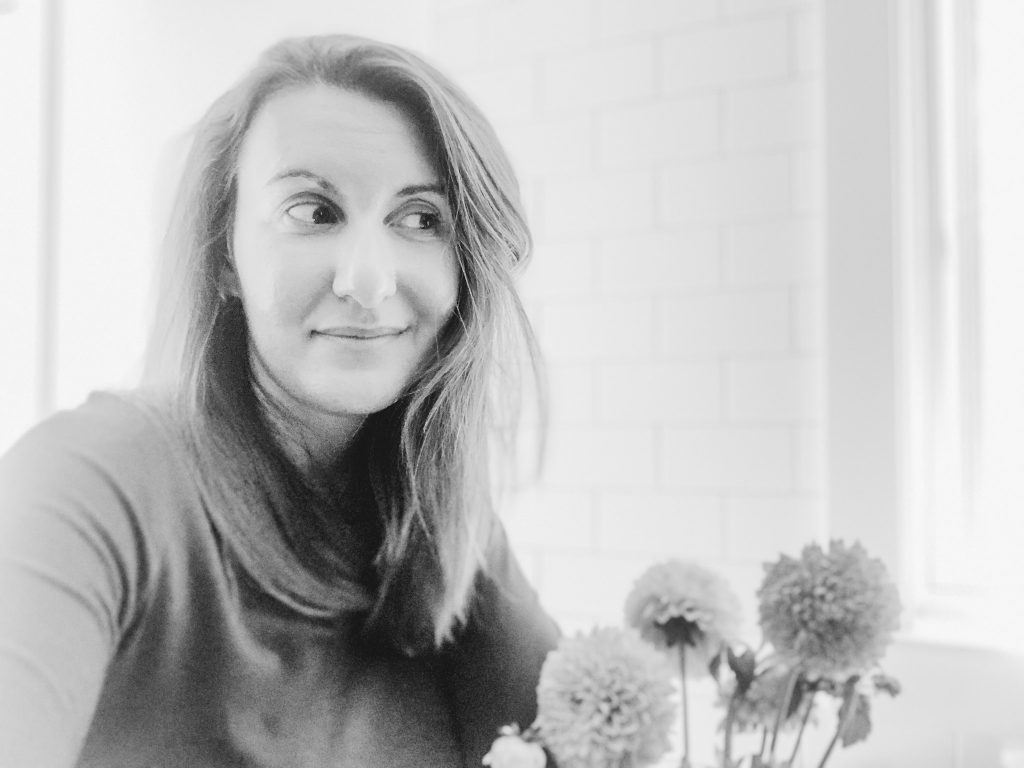 Onatah Seed Co. Co-Founder, Lauren in black and white