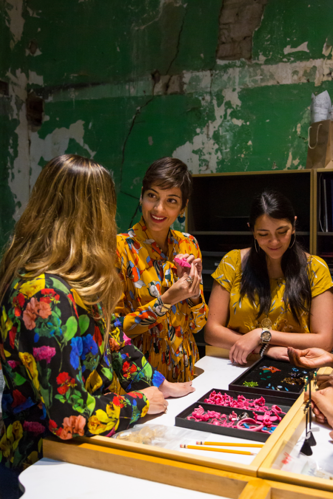 Women at jewelry event during Wild Terrains trip
